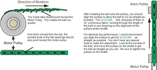 """ACCU-Link Size A 1//2/""""  X 4/' Adjustable  V Belt"""